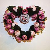 Подарки на 14 февраля ручной работы. Ярмарка Мастеров - ручная работа Сердце Розовый сад. Handmade.