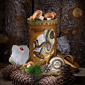 Посуда handmade. Livemaster - original item The Squirrel box large with lid Birch basket Potbelly #B15. Handmade.