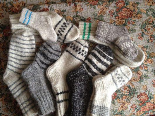 Носки, Чулки ручной работы. Ярмарка Мастеров - ручная работа. Купить Носки разных размеров. Handmade. Серый, белый