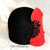 Аксессуары ручной работы. Ярмарка Мастеров - ручная работа Валяная шляпка Красный мак. Handmade.