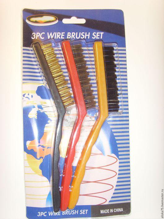 Другие виды рукоделия ручной работы. Ярмарка Мастеров - ручная работа. Купить Щетки для металла 21 см. Handmade. Комбинированный