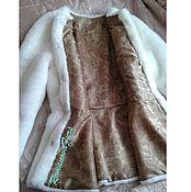 Одежда ручной работы. Ярмарка Мастеров - ручная работа Полушубок из искусственного меха под норку с юбкой солнце. Handmade.