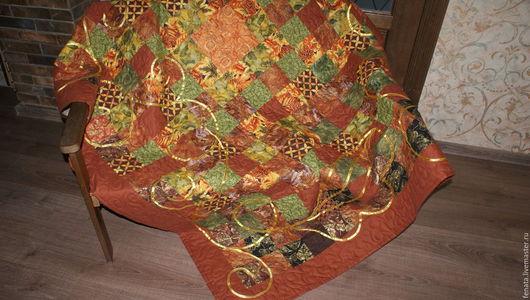 Текстиль, ковры ручной работы. Ярмарка Мастеров - ручная работа. Купить Лоскутное покрывало Золото осени. Handmade. Лоскутное покрывало
