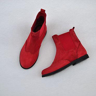 Обувь ручной работы. Ярмарка Мастеров - ручная работа Челси женские высокие комбинированные. Handmade.