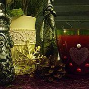 """Сувениры и подарки ручной работы. Ярмарка Мастеров - ручная работа Свеча в стакане """"Сердце"""" к Новому Году. Handmade."""