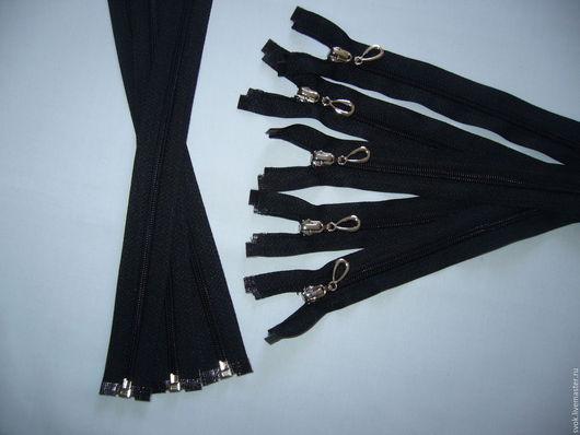 Шитье ручной работы. Ярмарка Мастеров - ручная работа. Купить Молния спиральная №5, 35 см, разъёмная, черная. Handmade.