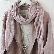 Аксессуары handmade. Livemaster - original item Dusty pink light cotton scarf-handkerchief. Handmade.