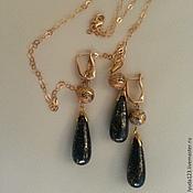 Украшения handmade. Livemaster - original item Set with lapis lazuli and gold. Handmade.