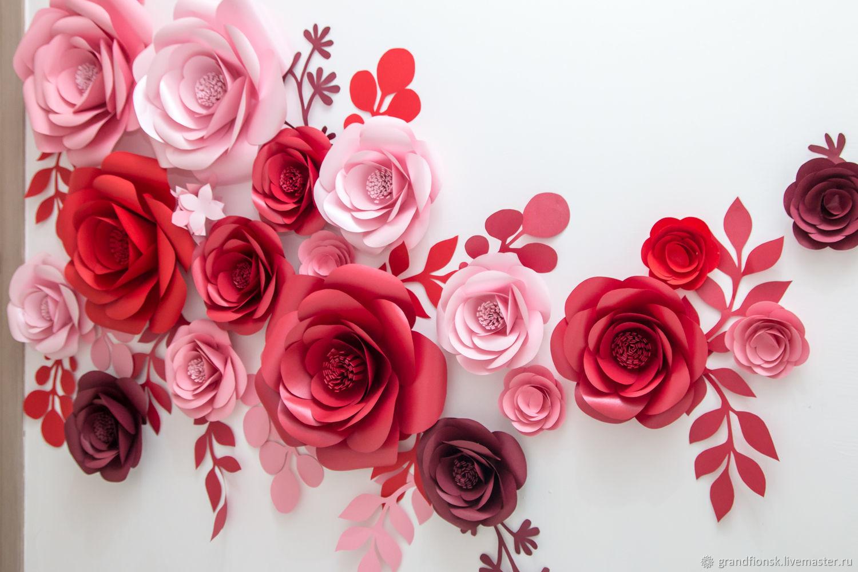 Цветы ручной работы. Ярмарка Мастеров - ручная работа. Купить Цветочное оформление. Handmade. Бумажные цветы, фотозона, фотозона на праздник