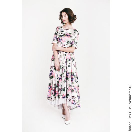 """Платья ручной работы. Ярмарка Мастеров - ручная работа. Купить Комплект""""Круиз"""". Handmade. Разноцветный, красивое платье в цветок, яркое платье"""