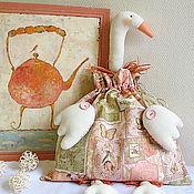 Куклы и игрушки ручной работы. Ярмарка Мастеров - ручная работа Гусь-мешок (пакетница) Рaradise garden. Handmade.