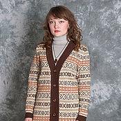 Одежда ручной работы. Ярмарка Мастеров - ручная работа Кардиган в коричневых тонах. Handmade.