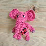 Мягкие игрушки ручной работы. Ярмарка Мастеров - ручная работа Розовая слоняшка. Handmade.