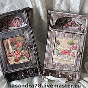 Для дома и интерьера ручной работы. Ярмарка Мастеров - ручная работа Ключница розовый сад. Handmade.