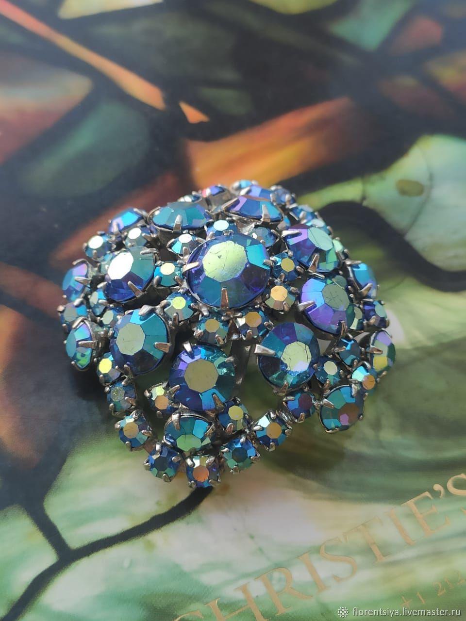 Винтаж: Брошь с кристаллами Aurora Borealis, Броши винтажные, Санкт-Петербург,  Фото №1