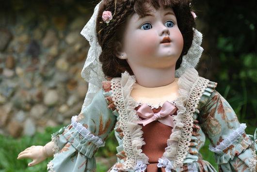 Одежда для кукол ручной работы. Ярмарка Мастеров - ручная работа. Купить Изящное платье для антикварной куклы. Handmade. Мятный, кружево