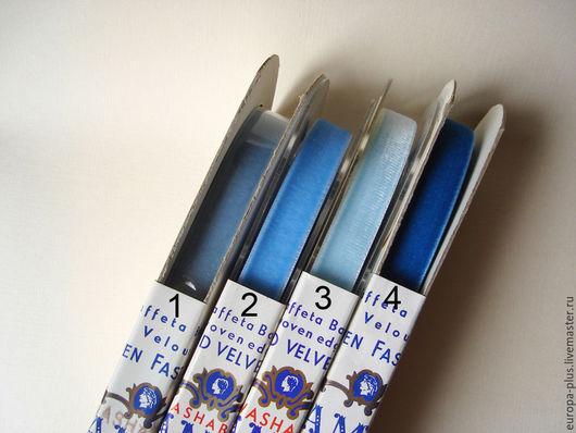 Шитье ручной работы. Ярмарка Мастеров - ручная работа. Купить Винтажная бархатная тесьма 15 мм. Handmade. Синий