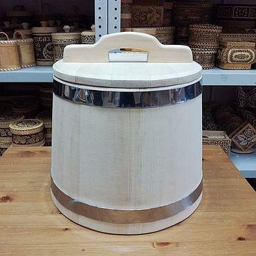 Для дома и интерьера ручной работы. Ярмарка Мастеров - ручная работа Кадка деревянная из кедра 10 литров обручи из нержавеющей стали. Handmade.
