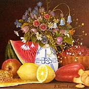 Картины и панно handmade. Livemaster - original item author`s painting summer still life.. Handmade.
