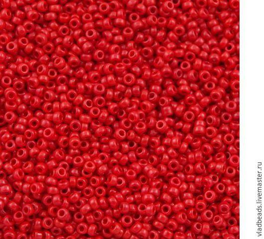 Для украшений ручной работы. Ярмарка Мастеров - ручная работа. Купить Бисер 8/0 Miyuki 408 Opaque Red. Handmade.
