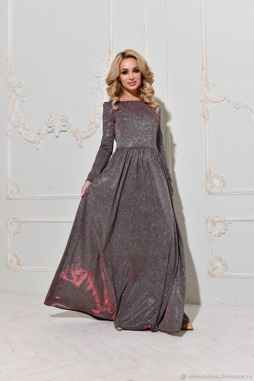 219eea114a3 Блестящее вечернее платье в пол – купить в интернет-магазине на ...