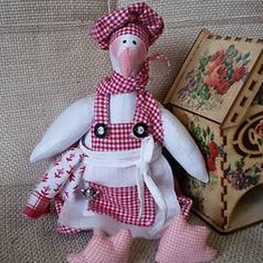 Куклы и игрушки ручной работы. Ярмарка Мастеров - ручная работа Гусь . Повар. Гусь тильда.тильда повар. Handmade.