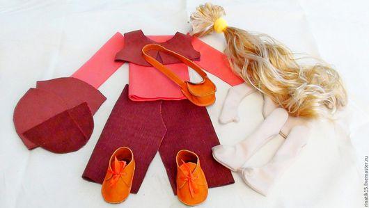 Куклы и игрушки ручной работы. Ярмарка Мастеров - ручная работа. Купить Набор для пошива интерьерной куклы. Handmade. Коричневый, микровельвет