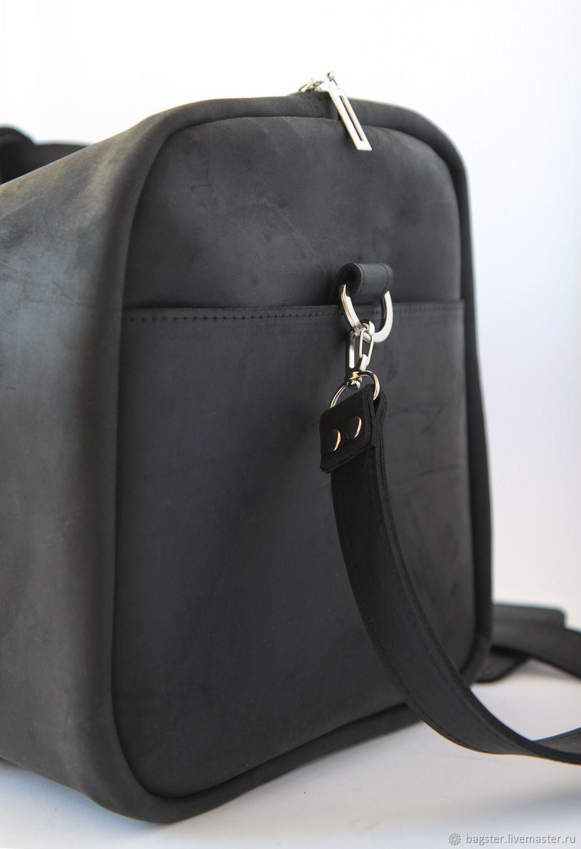 Винтажная кожаная дорожная сумка