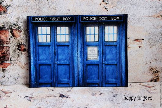 Обложки ручной работы. Ярмарка Мастеров - ручная работа. Купить Кожаная обложка на паспорт Доктор кто Тардис doctor who. Handmade.
