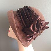 Аксессуары handmade. Livemaster - original item Hat with velvet drape. Handmade.