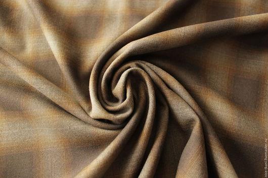 Шитье ручной работы. Ярмарка Мастеров - ручная работа. Купить 19001 итальянская костюмная ткань. Handmade. Коричневый, креп
