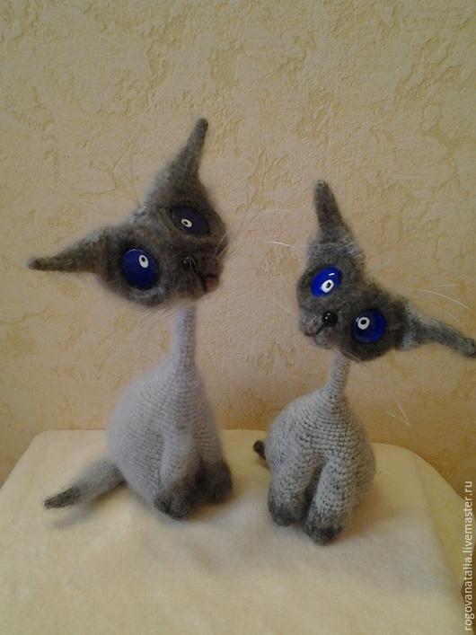 """Игрушки животные, ручной работы. Ярмарка Мастеров - ручная работа. Купить """"котик Сиам"""". Handmade. Серый, игрушка ручной работы"""