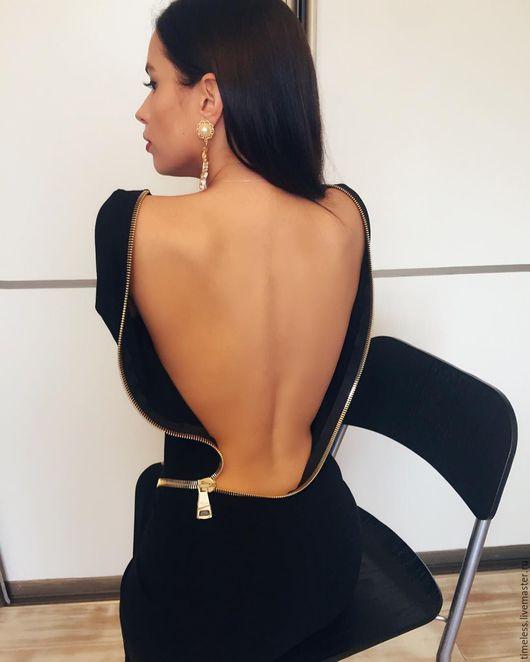 Платья ручной работы. Ярмарка Мастеров - ручная работа. Купить платье-футляр. Handmade. Черный, платье футляр, модное платье