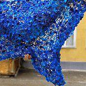 Аксессуары ручной работы. Ярмарка Мастеров - ручная работа палантин Синяя птица. Handmade.