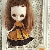 Одежда для кукол ручной работы. Ярмарка Мастеров - ручная работа Одежда для кукол: Хлопковое платье с подъюбником. Handmade.