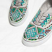 """Обувь ручной работы. Ярмарка Мастеров - ручная работа Кеды """"Надел, и на ГОА!"""" 37 (36-36,5) размер.. Handmade."""