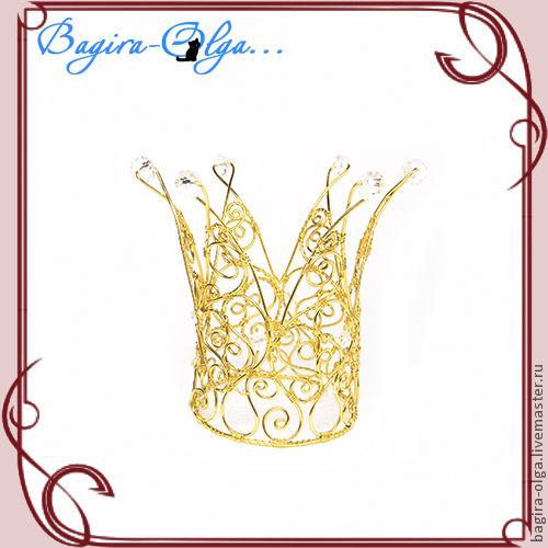 """корона """"Золотая Царица"""", Украшения в прическу, Москва,  Фото №1"""