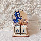 Канцелярские товары handmade. Livemaster - original item Perpetual calendar cat and mouse. Handmade.