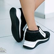 Обувь ручной работы handmade. Livemaster - original item Felted shoes Day Night. Handmade.