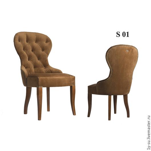 Дизайнерский стул S01 с гвоздиками и каретной стяжкой