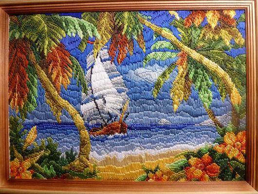 Пейзаж ручной работы. Ярмарка Мастеров - ручная работа. Купить Свежий бриз. Handmade. Картина, остров, солнечная картина