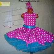 Одежда handmade. Livemaster - original item Dress dudes pink polka dots. Handmade.