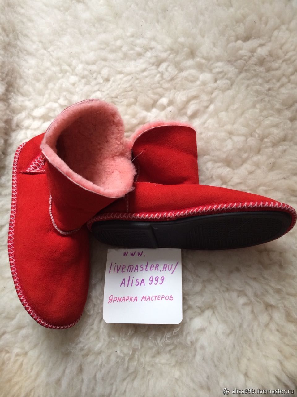 Women's ugg boots made of sheepskin.Solid sole, Ugg boots, Moscow,  Фото №1