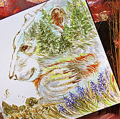 Картины и панно handmade. Livemaster - original item Keeper of the forest - painting on paper. Handmade.