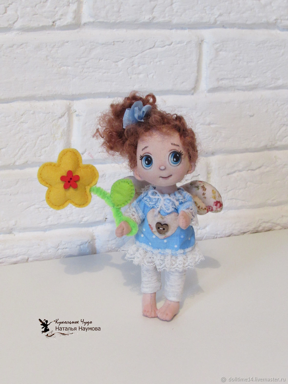 Dolls and dolls: Textile doll Flower angel, Dolls, Trehgornyi,  Фото №1