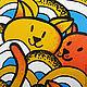 """Зеркала ручной работы. """"Апельсиновые котята"""". Алиса * alisausi * Подболотова. Ярмарка Мастеров. Веселый, белый фон"""