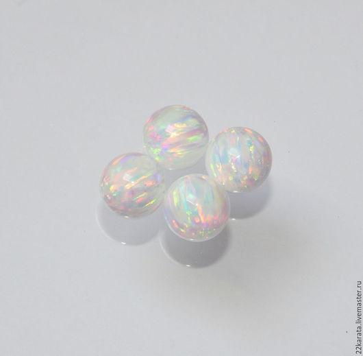 Для украшений ручной работы. Ярмарка Мастеров - ручная работа. Купить Опал синтетический Шар, белый 13. Handmade. Разноцветный