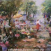 """Картины и панно ручной работы. Ярмарка Мастеров - ручная работа Вышитая картина """"Цветочный базар"""". Handmade."""