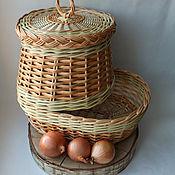 Русский стиль handmade. Livemaster - original item Capacity to store garlic/onion