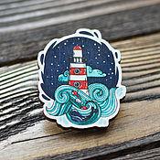 Украшения handmade. Livemaster - original item Wooden icon lighthouse. Handmade.